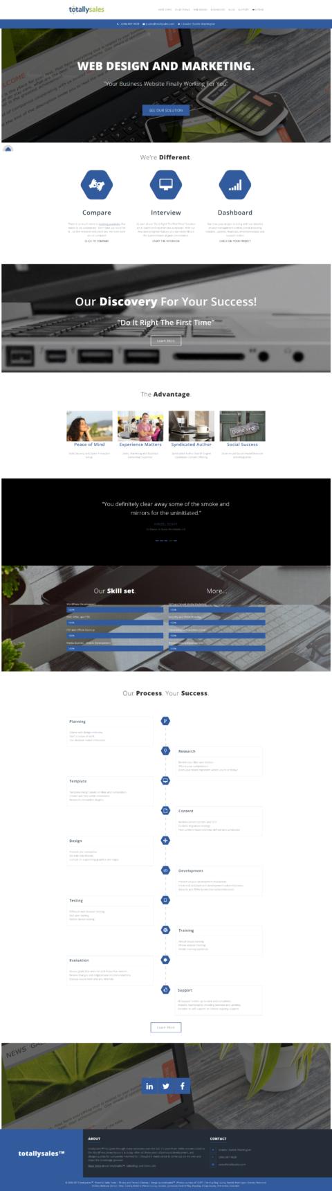 totallysales web design